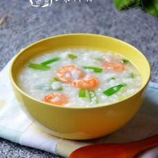 韭菜虾仁粥的做法