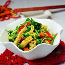韭菜炒脆豆腐