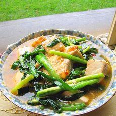 豆腐煮韭菜
