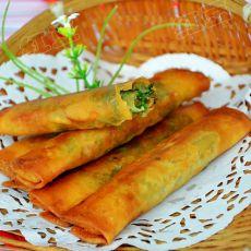 韭菜素春卷的做法