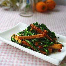 韭菜炒豆干的做法