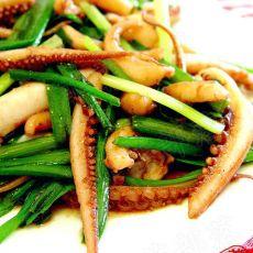 韭菜鱿鱼须的做法