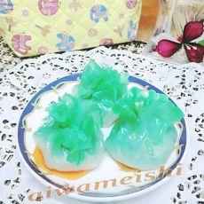 水晶白菜造型虾饺