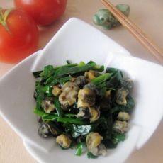 田螺头炒韭菜的做法