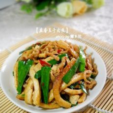 韭香豆干肉丝的做法
