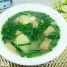 土豆韭菜汤