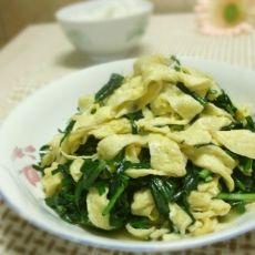 韭菜炒蛋皮