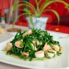 韭菜虾仁-首发的做法