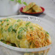 韭菜银芽虾皮饼的做法