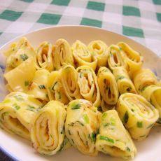 韭菜扇贝鸡蛋饼的做法