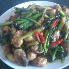 韭菜爆炒牡蛎的做法