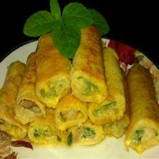 黄金豆皮韭菜卷