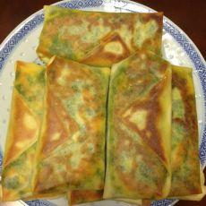 韭菜鸡蛋虾米煎饼