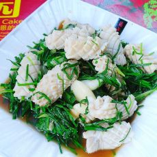 韭菜炒鱿鱼