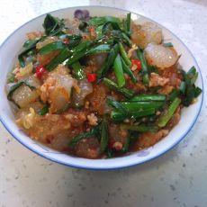 韭菜炒凉粉