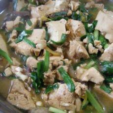 豆腐炒韭菜