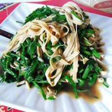 豆腐丝炒韭菜的做法