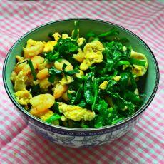 韭菜虾仁炒鸡蛋的做法