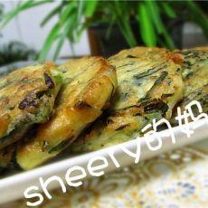 韭菜豆腐饼的做法