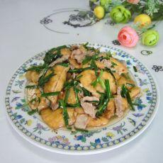 韭菜油豆腐炒肉