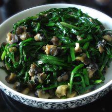 螺丝肉炒韭菜