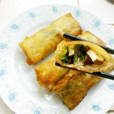 韭菜豆干春卷