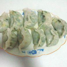 虾仁韭菜水晶蒸饺