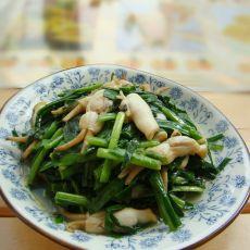 韭菜炒蛏子肉