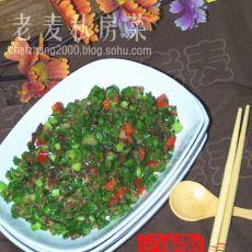 韭菜碎碎炒