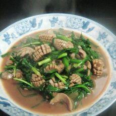 韭菜炒腰花