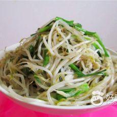 韭菜虾皮炒豆芽