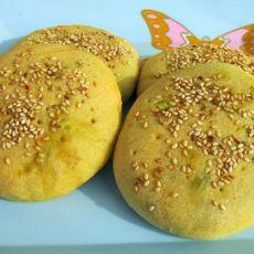 韭菜鸡蛋杂粮饼的做法