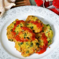 韭菜蛤蜊蛋饼