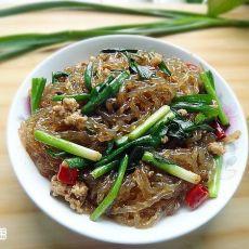 肉末韭菜炒粉条