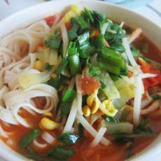 西红柿韭菜面
