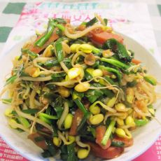 韭菜豆芽炒香肠