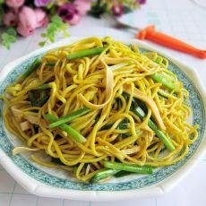 韭菜炒黄面