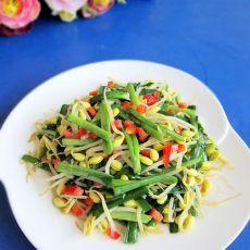 蚝油韭菜炒黄豆芽