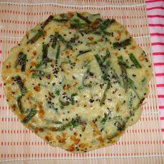 黑芝麻韭菜饼的做法