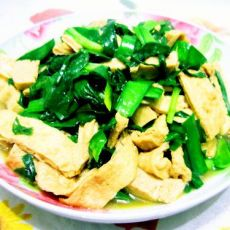 韭菜炒油豆腐