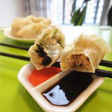 双色韭菜饺子