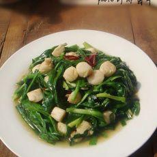 韭菜炒鲜贝