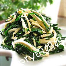 韭菜炒干丝
