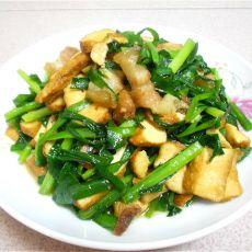 香干韭菜炒肉