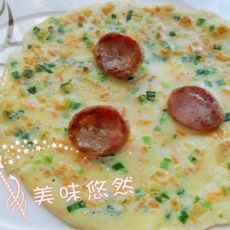 韭香火腿煎饼
