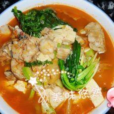 韩式泡菜明太鱼锅的做法