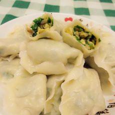 韭菜鸡蛋扇贝边饺子的做法