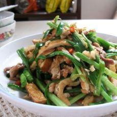韭菜香干炒肉丝的做法
