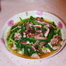 鱿鱼须炒韭菜的做法