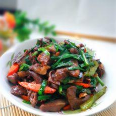 韭菜炒猪心